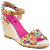 Sperry Saylor Bright Pink Liberty Canvas Wedges