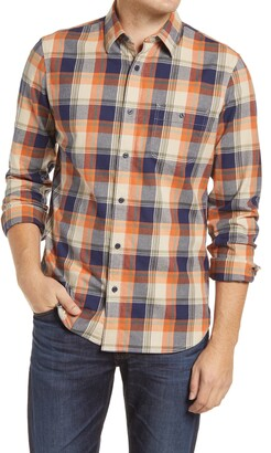 1901 Slim Fit Stretch Flannel Plaid Button-Up Shirt