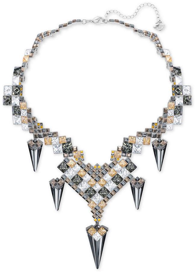 Swarovski Goddess Silver-Tone Jagged Crystal Drama Necklace