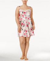 Thalia Sodi Plus Size Lace-Trimmed Printed Chemise, Created for Macy's