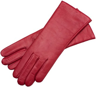 1861 Glove Manufactory Marsala - Women's Minimalist Leather Gloves In Red Nappa Leather