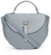 Meli-Melo 'Ortensia' suede flap leather saddle bag