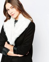 French Connection Faux Fur Collar