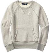 Ralph Lauren Girls' Herringbone French Terry Sweatshirt - Sizes S-XL