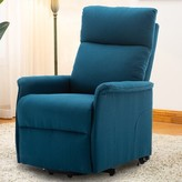 Abeale Reclining Heated Massage Chair Winston Porter Upholstery Color: Blue
