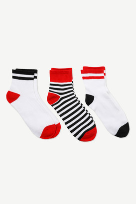 Ardene Striped Demi Crew Socks
