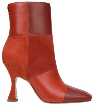 Sam Edelman Olina Square-Toe Patchwork Leather & Suede Ankle Boots