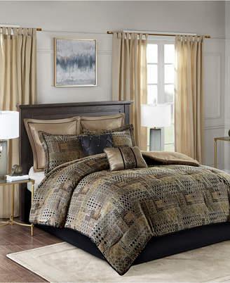 Madison Home USA Danville Queen 8 Piece Chenille Jacquard Comforter Set Bedding