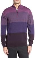 Bugatchi Men's Quarter Zip Wool Sweater