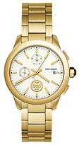 Tory Burch Collins Watch, Gold-Tone Stainless Steel/Ivory Chronograph, 38mm