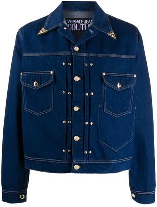 Versace pointed collar stud detail jacket