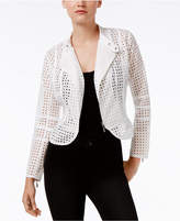Bar III Eyelet Moto Jacket, Only at Macy's