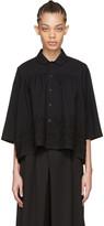 Comme des Garcons Black Floral Embroidery Shirt