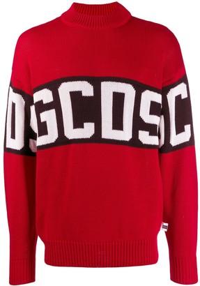 GCDS contrast roll-neck jumper
