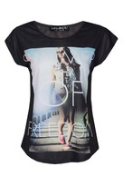Select Fashion Fashion Womens Black Summer Of Freedom Tee - size 6