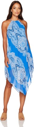 Tiana B T I A N A B. Women's Chiffon Print Asymmetrical Hem Dress Petite