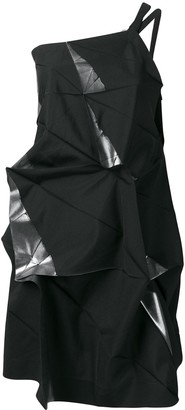 Issey Miyake Deconstructed One-Shoulder Top