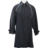 Prada Black Cotton Trench coat