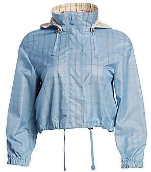 Akris Punto Women's Check Lined Nylon Jacket