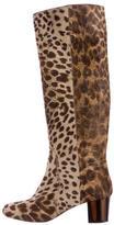 Lanvin Ponyhair Knee-High Boots