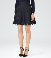 Reiss Mallory Lace A-Line Skirt