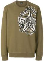 Just Cavalli star and animal print sweatshirt