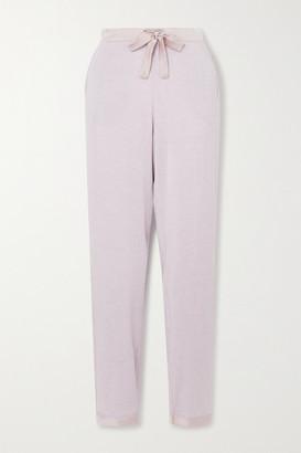I.D. Sarrieri Satin-trimmed Modal-blend Pajama Pants - Lilac