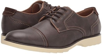 Dockers Murray Cap Toe Oxford (Dark Brown Distressed Synthetic) Men's Shoes