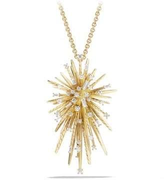 David Yurman Supernova Pendant Necklace With Diamonds In 18K Gold