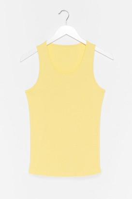 Nasty Gal Womens Totally Invested Jersey Tank Top - Lemon