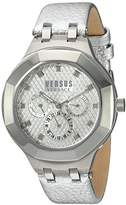 Versus By Versace Women's 'LAGUNA CITY' Quartz Stainless Steel and Leather Casual Watch