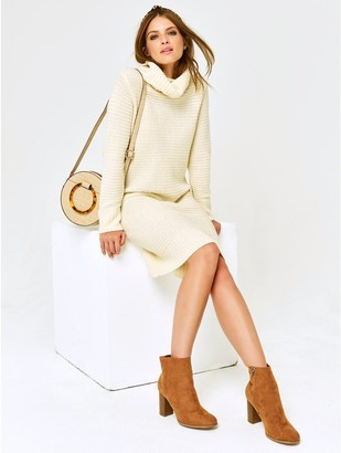 M&Co Petite cowl neck jumper dress