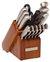Sabatier 15 Piece Stainless Steel Hollow Handle Traditional Knife Block Set