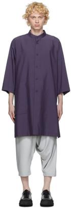 132 5. ISSEY MIYAKE Purple Cotton Poplin Shirt