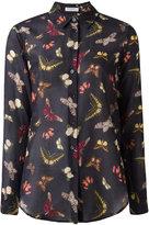 Equipment butterflies print sheer shirt - women - Silk/Cotton - M