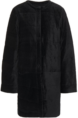 Majestic Filatures Quilted Cotton And Modal-blend Velvet Coat
