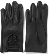 Brunello Cucinelli Embellished Leather Gloves - Black