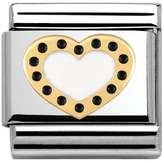 Nomination Pois Golden Polka Dot Heart Classic Charm 030283/03