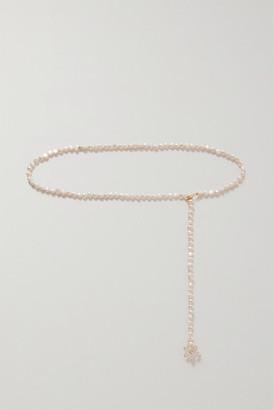 ANITA BERISHA Gold-plated, Quartz, Pearl And Glass Belt