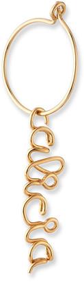 Atelier Paulin Single Personalized Baby Hoop Earring, 6-10