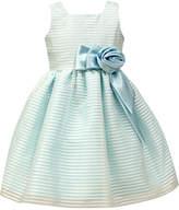 Jayne Copeland Organza Stripe Special Occasion Dress, Little Girls