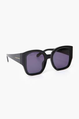 Karen Walker Black Checkmate Sunglasses