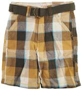Smiths American Smith's American Little Boys' Plaid Patchwork Shorts with Belt