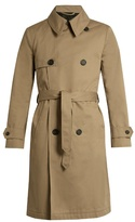 Ami Double-breasted Cotton-twill Trench Coat