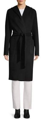 Elie Tahari Shawl Wool-Blend Wrap Coat