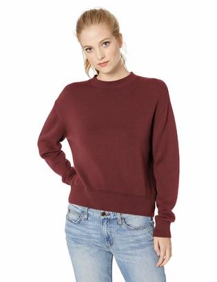 Daily Ritual Women's 100% Cotton Long-Sleeve Crewneck Sweater