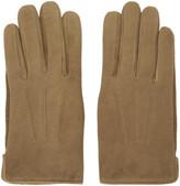 A.P.C. Brown Sude Luc Gloves
