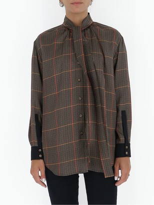Burberry Pussybow Checked Blouse