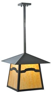 Stillwater Meyda Tiffany 1 - Light Lantern Geometric Chandelier Meyda Tiffany