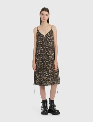 R 13 Midi Slip Dress with Back Tie